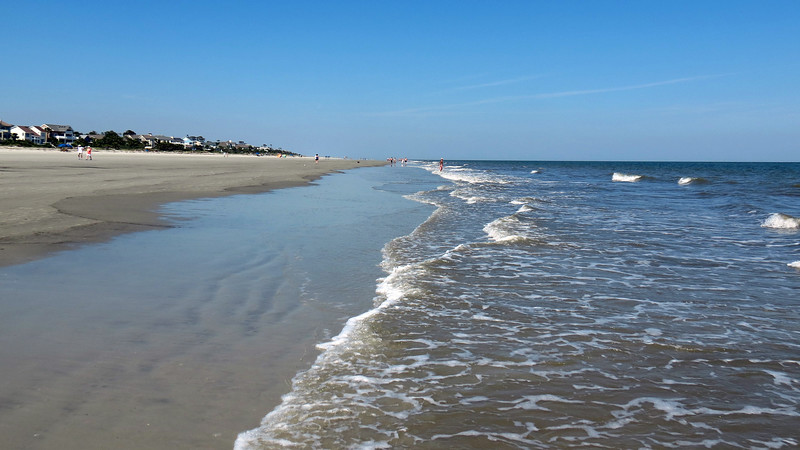 Looking north from Coligny Beach.