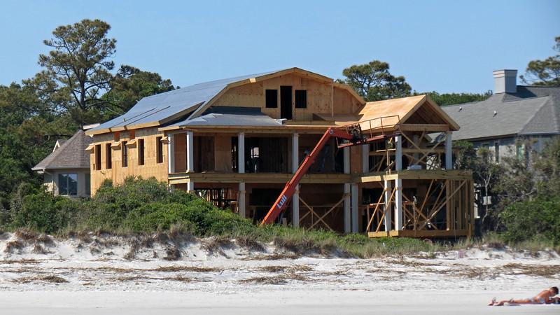 New construction along the beach.