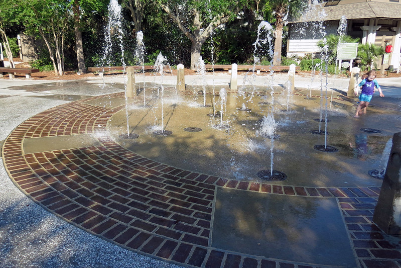 The Splash Pad greets visitors to the park.