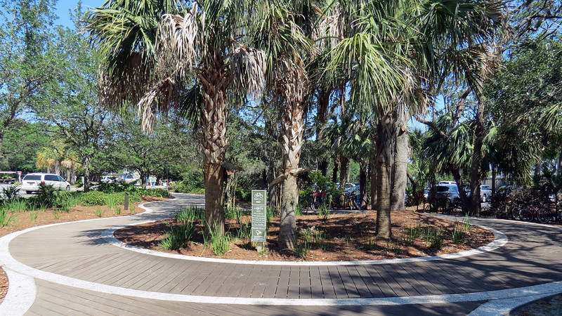 Entrance to the park is via a beautifully designed walking trail.