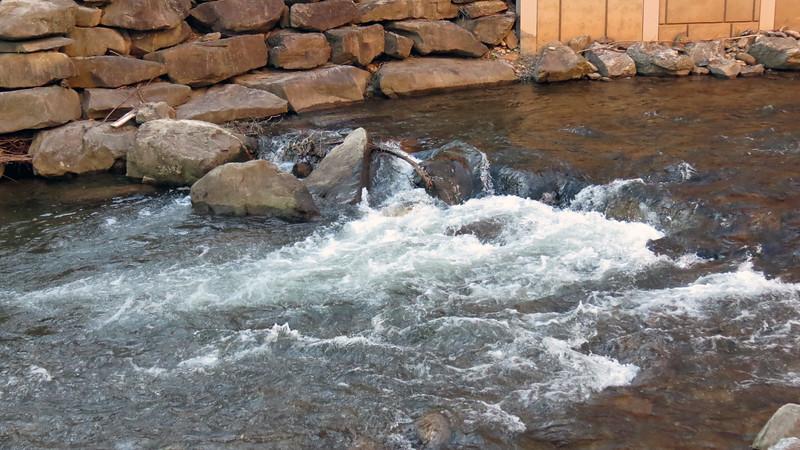 Soco Creek near the main casino entrance.