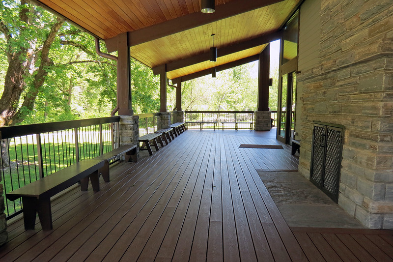 Great covered porch at the Visitor's Center.