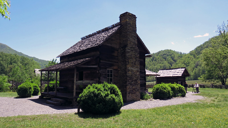 The John Davis Cabin originally stood in the Indian Creek area near Bryson City, North Carolina.  Davis moved to the area in 1885 and, along with his two eldest sons, built the cabin around 1900.  It was moved to this location in the 1950s.