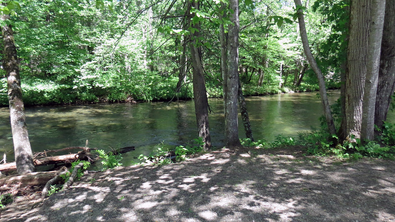 Still walking along the trail next to the Oconaluftee River.