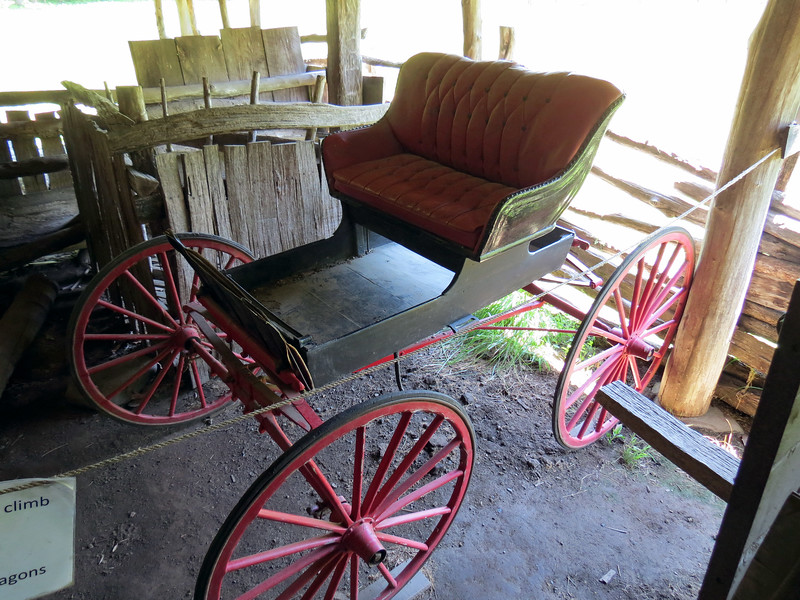 Another horse-drawn buggy in the Enloe Barn.