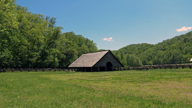I wanted to take a panorama shot of this side of the museum by stitching multiple photos together.  This is the Enloe Barn from 1880.
