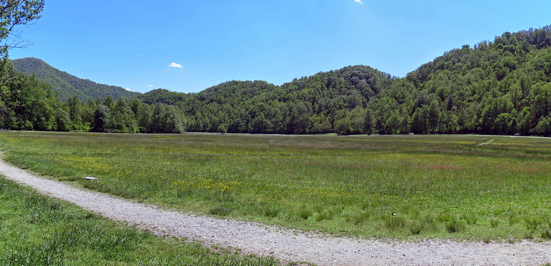 I stitched the previous two photos together to create a panorama of the field in front of the Visitor's Center.