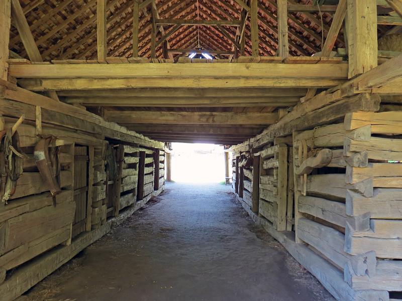 The lower level of the Enloe Barn housed livestock.