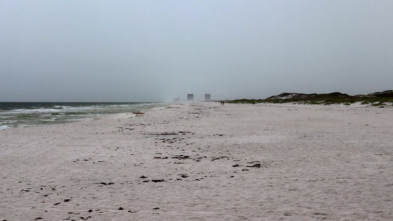 The only difference was that Pensacola Beach was getting closer .  .  .