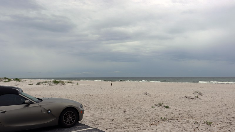 One of the many Gulf of Mexico beach access points along Florida Route 399.