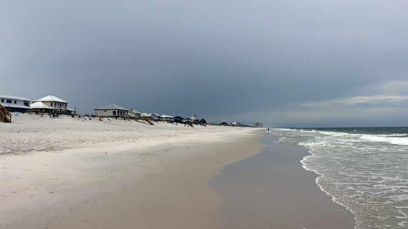 Checking out the beachfront homes in Navarre Beach, Florida.