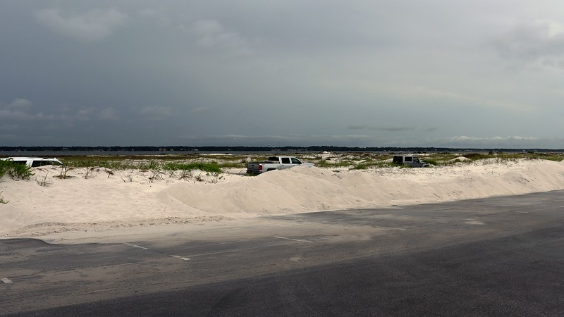 Looking north over Santa Rosa Sound toward the unincorporated community of Navarre.