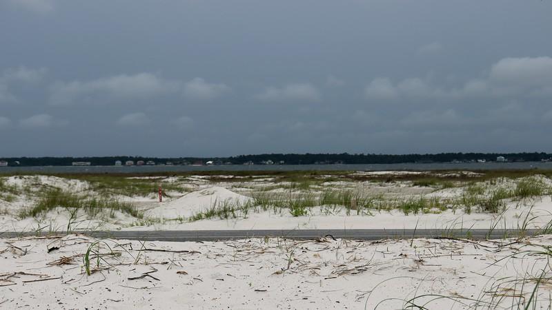 Looking north over Santa Rosa Sound toward Navarre, Florida.