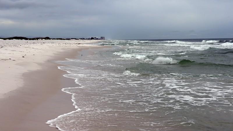 Looking east toward Navarre Beach.
