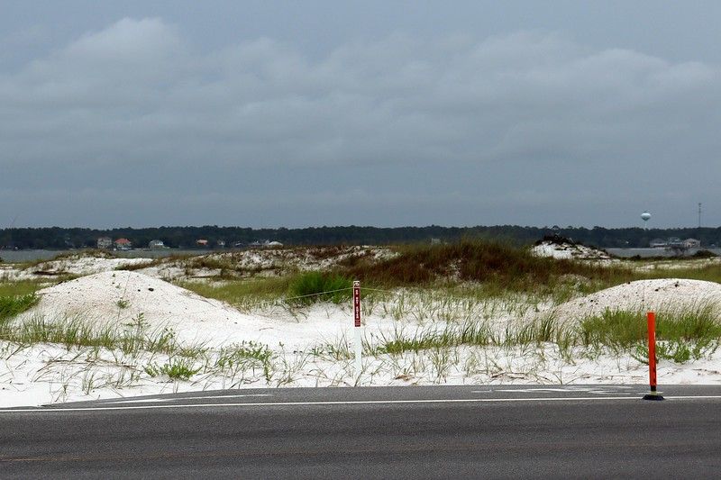 Sand dunes across from the parking area.