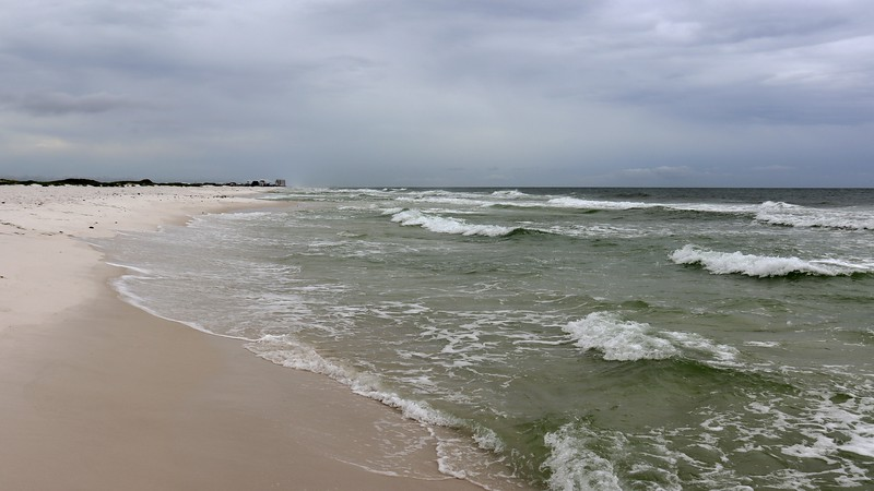 Getting my feet wet in the Gulf of Mexico.