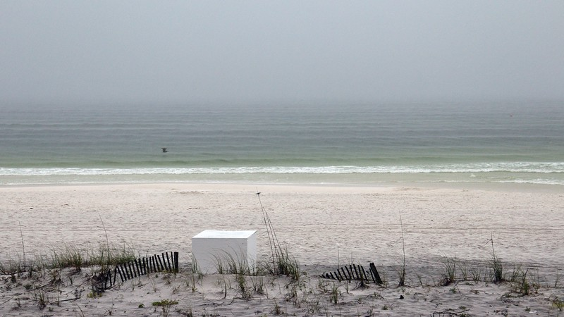 Even though it was raining off and on, the Gulf was remarkably calm.