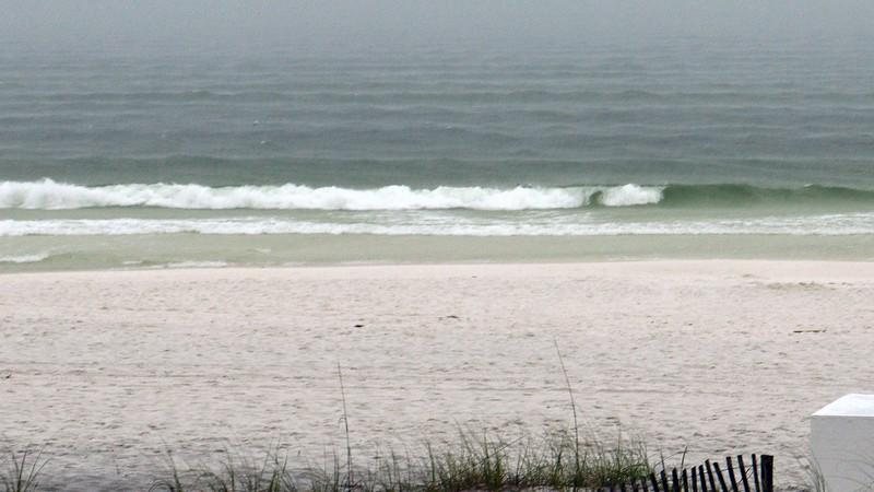 Still behind the wave.