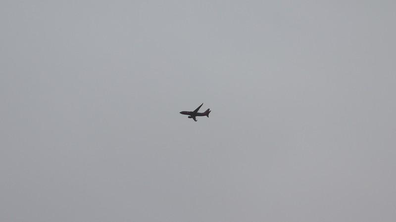 More air traffic overhead.
