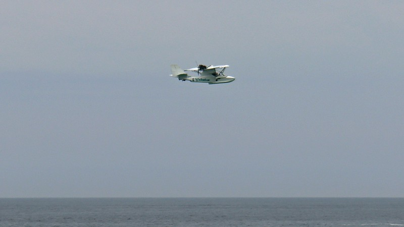 This is a two-person seaplane, meaning only one customer at a time.