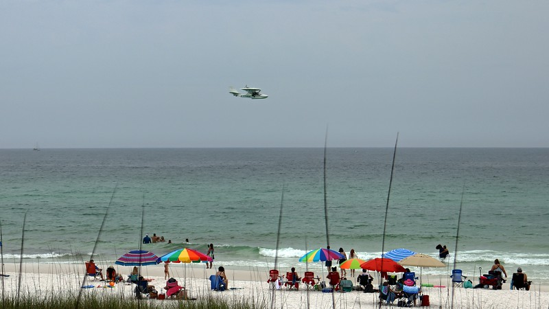 """I later learned that this is a """"Fly The Beach"""" seaplane."""