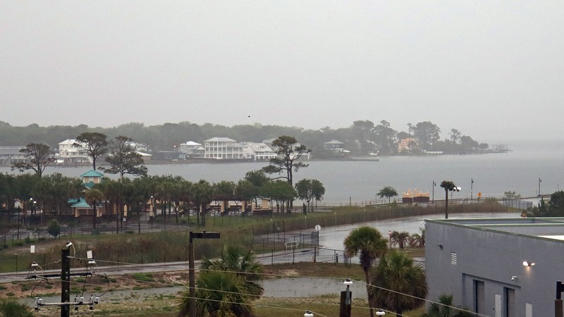 Looking out over where Santa Rosa Sound transitions into Choctawhatchee Bay.