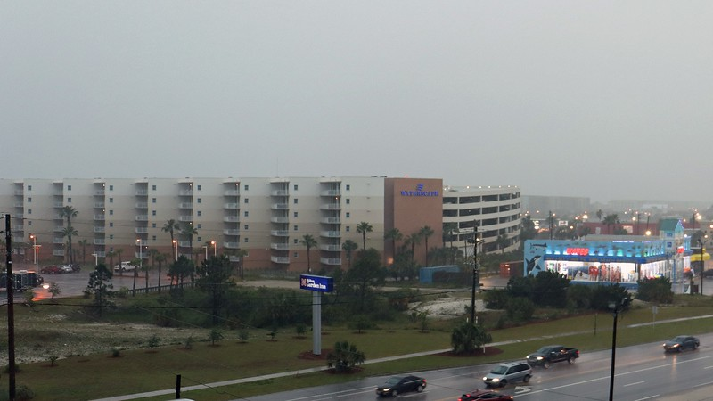 The large Waterscape condo complex sits next to the Hilton.