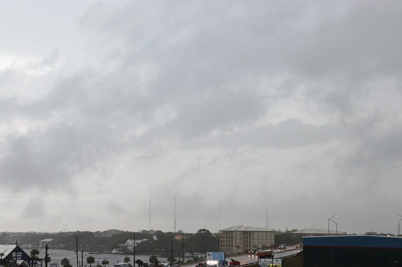 Checking out the stormy weather over Fort Walton Beach.