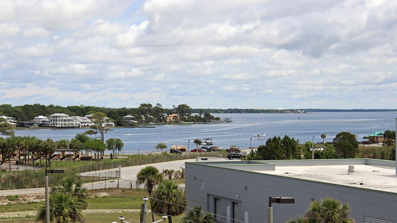Another beautiful view from the bay side of the building.