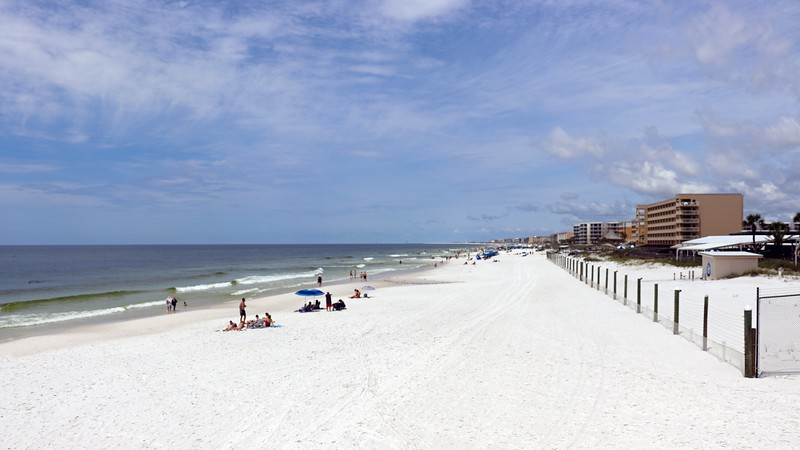 Looking west from the entrance to the Okaloosa Island Fishing Pier.