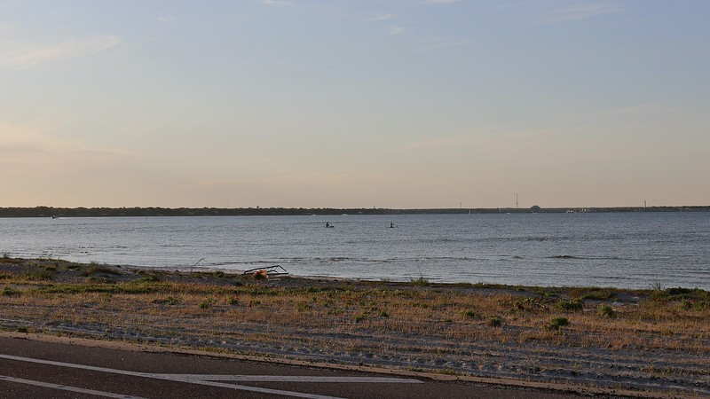 I spotted a couple of paddleboarders in Choctawhatchee Bay.