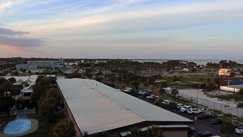 But the walkway's north/south orientation meant sunset was still out of direct view.