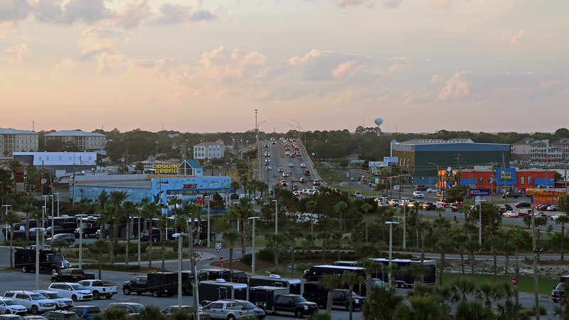 The photo above is of the Brooks Bridge that connects Okaloosa Island to Fort Walton Beach.