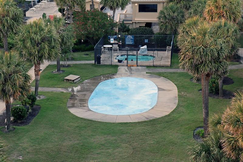 I've seen something similar in Hilton Head Island, South Carolina at the entrance to Coligny Beach.