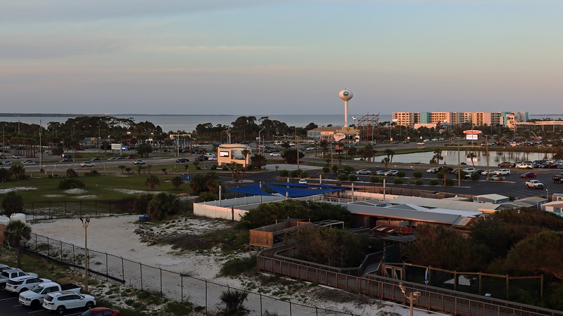 The Okaloosa County water tower I saw earlier was visible from here.