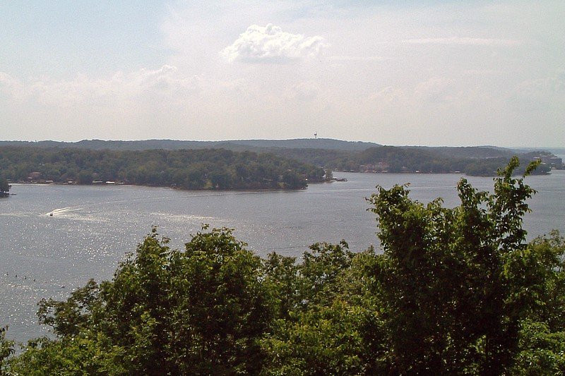 Looking out over the Lake of the Ozarks from the scenic overlook.