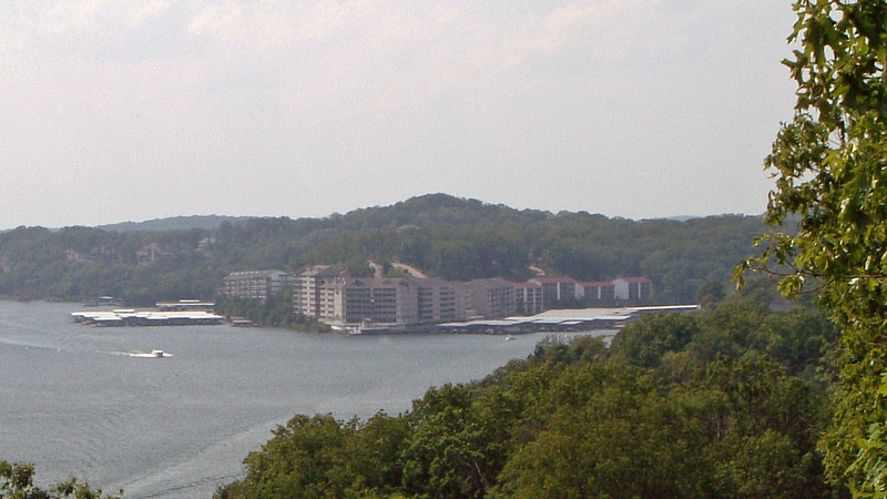 Zooming in on one of the many condominium complexes that line the Lake.