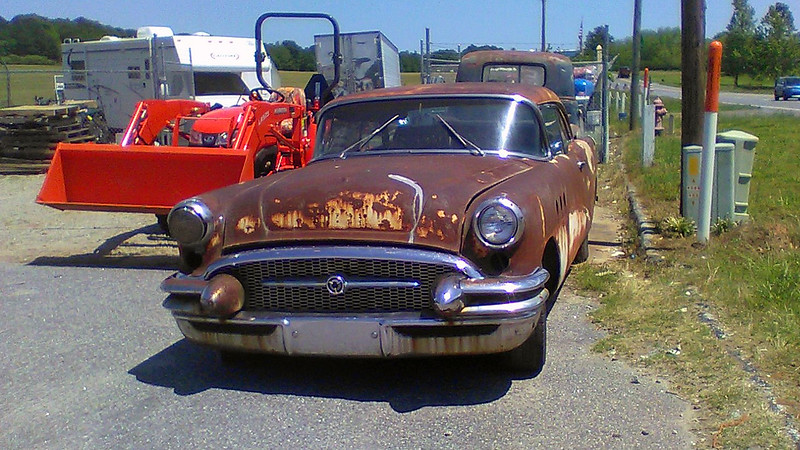 In front of the pickup sat another project, this one more toward my taste  - 1955 Buick Series 40 Special Riviera.