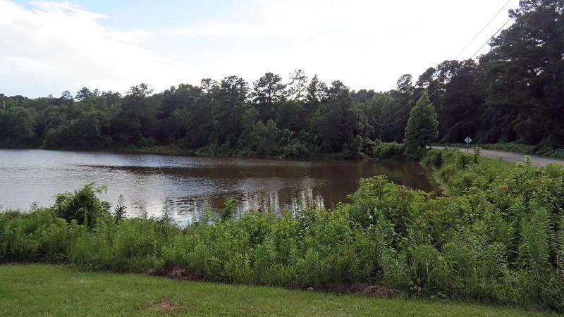 Small lake at the Selma Erwin Nature Study Preserve.