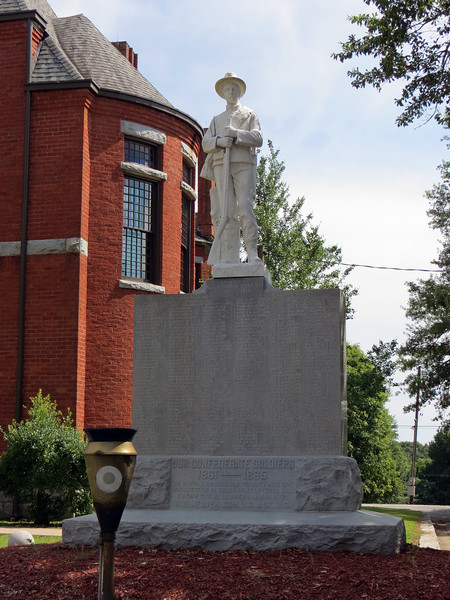 The second monument at the courthouse square is dedicated to Confederate soldiers from the area.