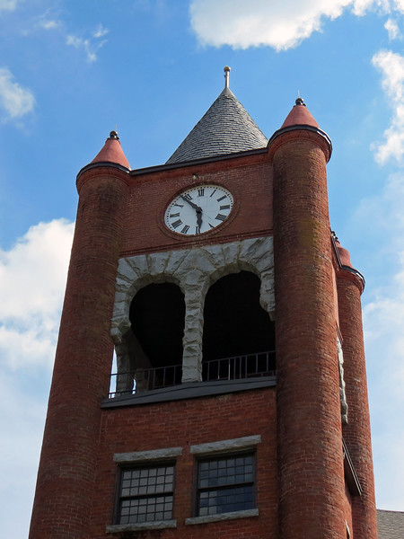 Clock tower at the Oglethorpe County Courthouse in Lexington, Georgia.