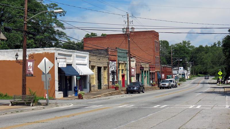 Looking at the downtown historic district.
