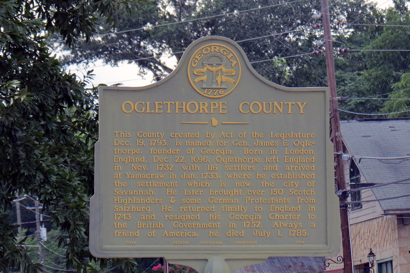 "Lexington, Georgia sits about 15 east of Athens in Oglethorpe County.  The name ""Oglethorpe"" refers to General James Oglethorpe who founded the Colony of Georgia in 1732.  Oglethorpe County was created in 1793 and was the fifth county to be established in Georgia."