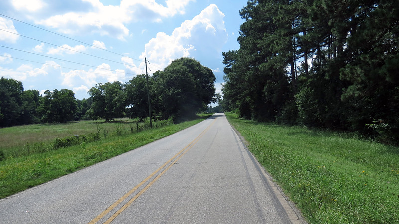 This stretch of pavement turned into Watkins Farm Road after a few miles.