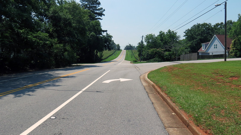 Aside from a few rolling hills here and there, Colham Ferry Road is mostly flat.