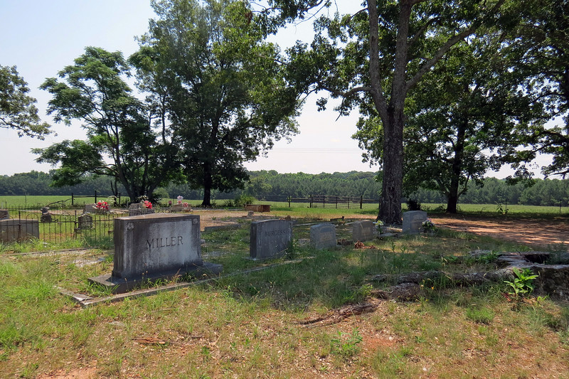 I spotted a small cemetery near the town of Poplar Springs, Georgia.