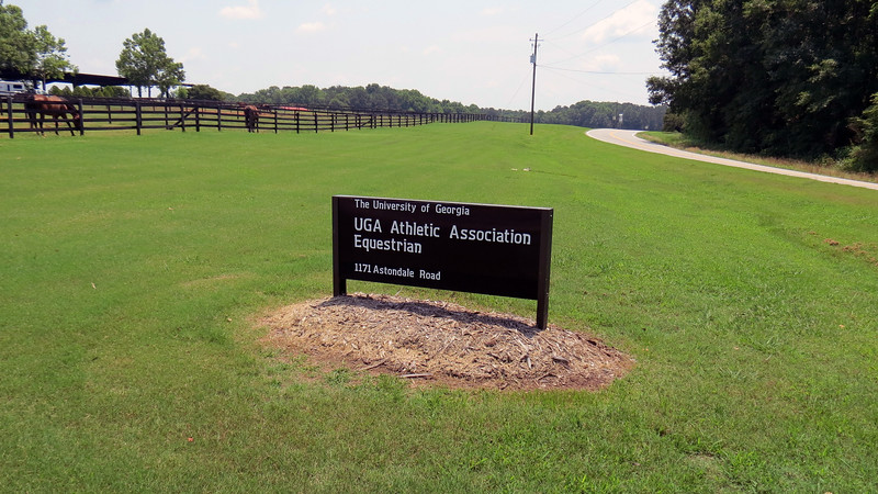The UGA Equestrian Complex sits further down Astondale Road in Bishop, Georgia.