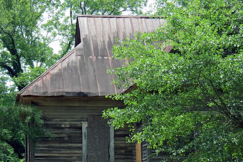 Abandoned schoolhouse along Belmont Road.
