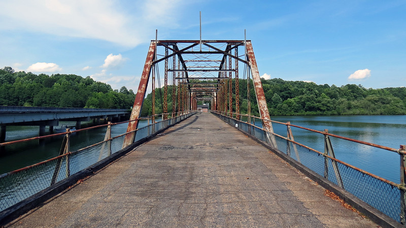 This is the Smith-McGee Bridge that dates from 1922.  It began life as a privately owned toll bridge before being acquired by Georgia and South Carolina in 1926.