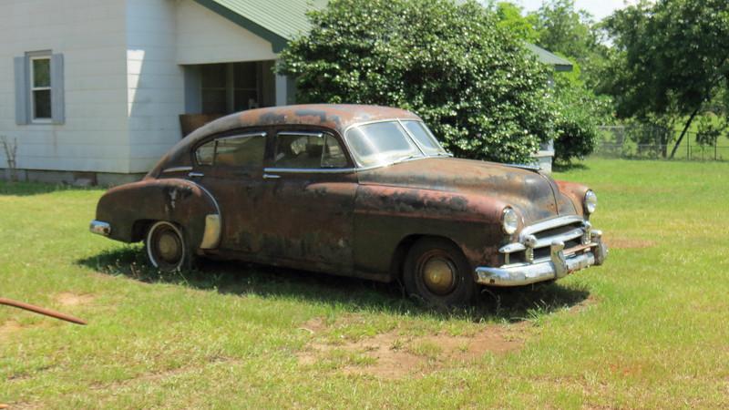 The 1950 Chevrolet sedan caught my eye.